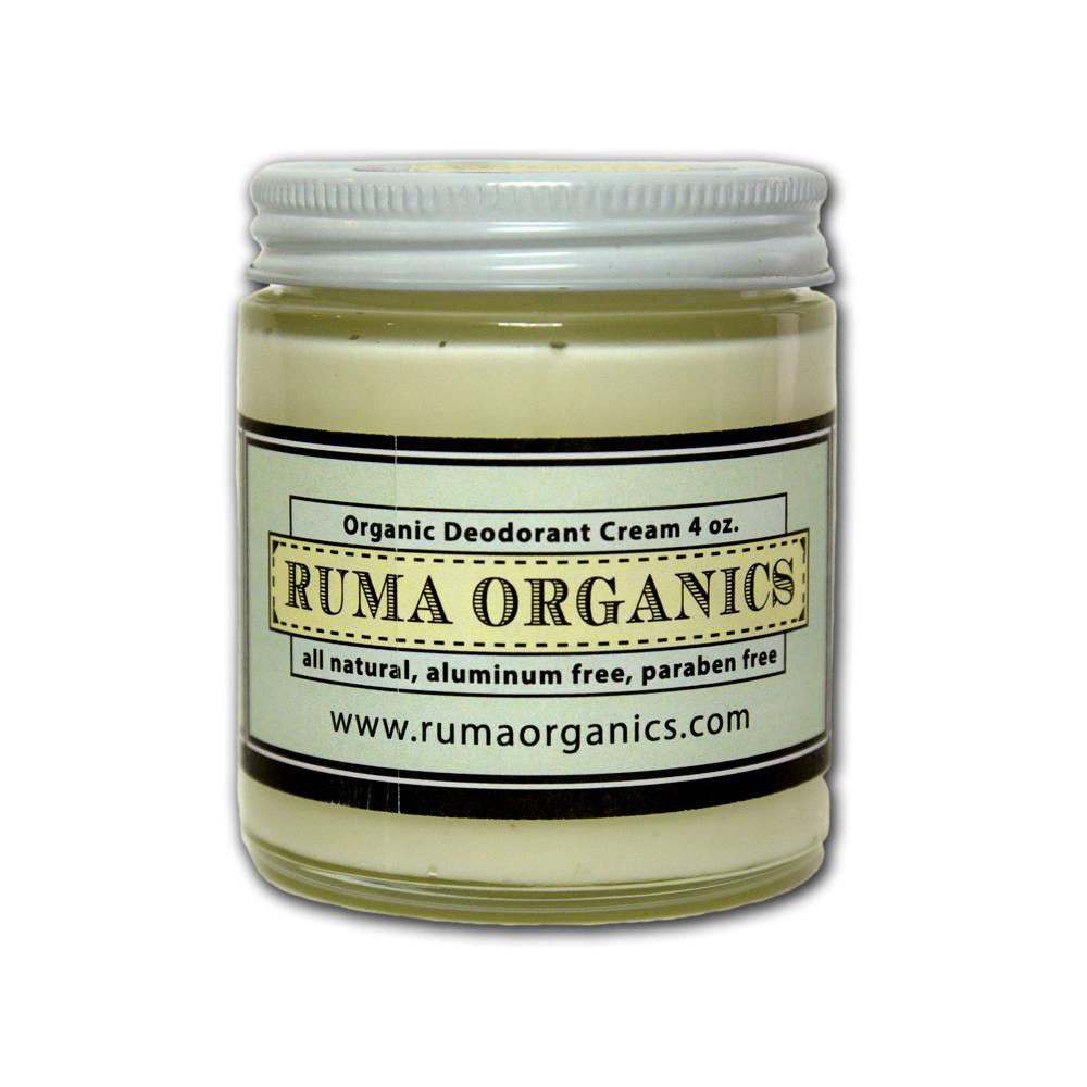 Organic Deodorant Cream - Lemon 4oz