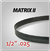 "1/2"" .025"" - Matrix II General Purpose Band Saw Blades"