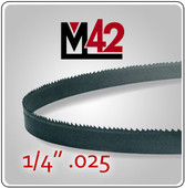 "1/4"" .025 - M42 Bi-Metal Band Saw Blade"