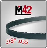 "3/8"" .035 - M42 Bi-Metal Band Saw Blade"