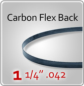 "1-1/4"" .042 Flex Back (HEF) Carbon Blades"