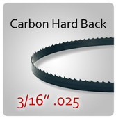 "3/16"" .025 - Hard Back (HB) Carbon Blades"