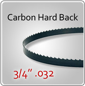 "3/4"" .032 Hard Back (HB) Carbon Blades"