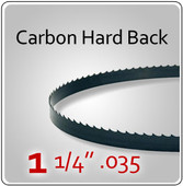 "1-1/4"" .035 Hard Back (HB) Carbon Blades"