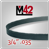 "3/4"" .035 - M42 Bi-Metal Band Saw Blade"