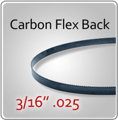"3/16"" .025 Flex Back (HEF) Carbon Blades"
