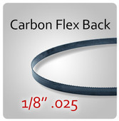 "1/8"" .025 Flex Back (HEF) Carbon Blades"