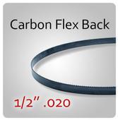 """1/2"""" .020 Flex Back (HEF) Carbon Blades"""