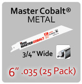 "6"" 035 (25PK) Metal"