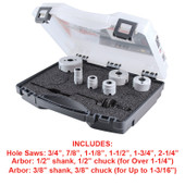 Plumbers Hole Saw Kit (8pc)