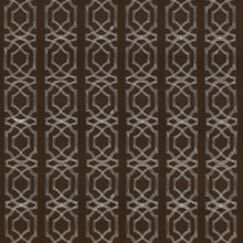 Kasmir Fabric Abacot Chocolate 5068 100% Polyester Embroidery Contents 100% Polyester CHINA Not Tested H: 3 4/8 inches, V:3 6/8 inches 57 - 58 - My Fabric Connection - Kasmir