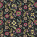 Kasmir Fabric Abberley Passion Black 1435 100% Cotton INDONESIA 15,000 Wyzenbeek Double Rubs H: 54 inches, V:27 inches 54 - 55 - My Fabric Connection - Kasmir