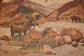 Big Sky Mountain Cabin Animal Tapestry Fabric 15 5/8 Yards