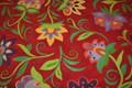 Robert Allen Big Botanica Red Susan Sarhent Print Fabric 9 7/8 Yards