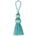 Fabricut Fabric Culpeper Aqua 2845711 MT VERNON TRIMMING 49% Fibranne 51% Rayon CHINA CLEANING CODE-S EXCLUSIVE PATTERN CUSHION TASSEL H: 0, V: 0 2 - My Fabric Connection -