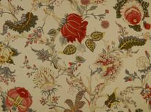 """<p>Heirloom Fabric Hl Darjeeling White/Red Multi 1</p><p>Book: -</p><p>Content: 100% Cotton</p><p>Origin: France</p><p>Performance: -</p><p>Repeat: H: 53.5"""", V: 35.8""""</p><p>Width: 55""""</p>"""