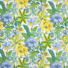 Greenhouse Fabric B8910 Spring Water our website for purchase 100% Polyester China 30,000 Double Rubs Horizontal: see sample and Vertical: see sample 54 inches - My Fabric Connection -