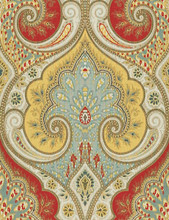 "Kravet Design Fabric LATIKA.915 Latika Festival - Linen 100% USA Medium H"" 13.5 inches, V: 18 inches 54.5 inches - My Fabric Connection - Kravet Design"