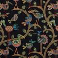 "Swavelle Millcreek Crazy Ol Bird Midnight Animal Bird Fabric  59% Rayon 41% Polyester 607448 China H: 28.5"" V: 27"" 54"