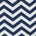 Indoor-Outdoor Navy Chevron Fabric - 1 Yard