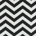 Indoor-Outdoor Black Chevron Fabric - 1 Yard