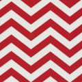 Indoor-Outdoor Red Chevron Fabric - 1 Yard
