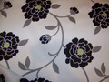 Robert Allen Mod Retro Black and White Floral Fabric 10 1/4 Yards