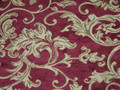 Extravagant Designer Gold and Red Floral Upholstery Fabric 4 7/8 Yards