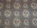Exotic Floral Leopard Print Designer Upholstery Farbric 1 5/8 Yards