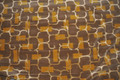 Contemporary Retro Gray and Gold Velvet Fabric ~ 4 Yards
