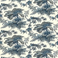 "F Schumacher Wallpaper Coconut Grove Lapis 5004050 - - - - H: 13.5"", V: 18"" 27"" - My Fabric Connection - F Schumacher"