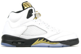 AIR JORDAN 5 RETRO GOLD COIN 2016 (SIZE  9)