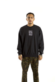 INDEX CREW SWEATER (BLACK)