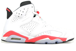 AIR JORDAN 6 RETRO BG GS WHITE INFRARED 2014 (SIZE 4Y)