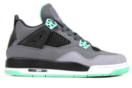 AIR JORDAN 4 RETRO (GS) GREEN GLOW (SIZE 4Y)