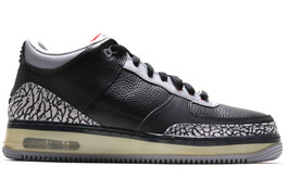 AIR JORDAN FUSION AJF 3 BLACK CEMENT