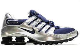 NIKE SHOX NZ METALLIC NAVY