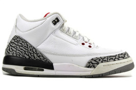 AIR JORDAN 3 RETRO (GS) WHITE CEMENT 2011 (SIZE 7Y)