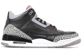 AIR JORDAN 3 RETRO BLACK CEMENT 2011 (SIZE 7)