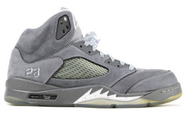 AIR JORDAN 5 RETRO WOLF GREY  (SIZE 9.5)