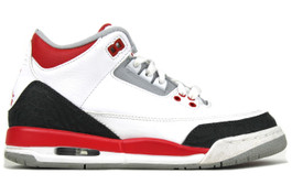 AIR JORDAN 3 RETRO (GS) FIRE RED 2013 (SIZE 6Y)