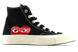 CHUCK 70 CDG PLAY BLACK COMME DES GARCONS