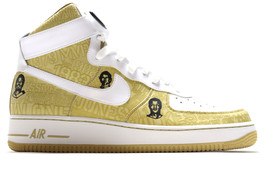 AIR FORCE 1 LUX HI '07 PLAYERS METALLIC GOLD