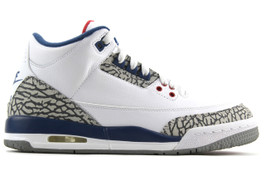 AIR JORDAN 3 RETRO OG BG GS TRUE BLUE 2016 (SIZE 7Y)