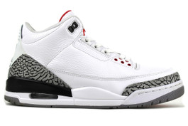 AIR JORDAN 3 RETRO WHITE CEMENT 2011  -  (SIZE 10.5)