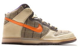 NIKE DUNK HIGH PREMIUM TWEED ORANGE BLAZE