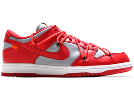 NIKE DUNK LOW LTHR /  OW OFF WHITE UNIVERSITY RED