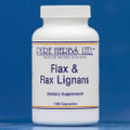 Pure Herbs: Flax and Flax Lignans - 100 Capsules, 650 mg.