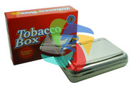 Plain Stainless Steel Tobacco Box (TB001)