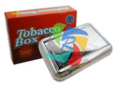 Scroll Pattern Stainless Steel Tobacco Box (TB002)